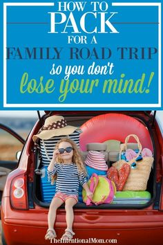 Heading out on a family road trip? Family vacations are the best, but the road to get there can be stressful. Knowing some road trip packing hacks is a HUGE lifesaver. Read how this mom of 9 has mastered the art of road trip packing & let the family fun begin! #roadtrip #familyfun #familyvacation #theintentionalmom via @www.pinterest.com/JenRoskamp