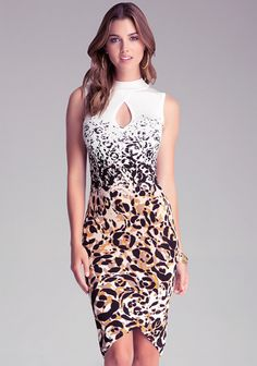 ef1ff5acf917 Available now at #bebe Funky Dresses, Sexy Dresses, Fashion Dresses, White  Bandage