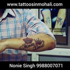 See some of our Mom Dad Tattoo Designs done by our best tattoo artists at Zee Body Graphics, the top tattoo studio in Mohali. See more ideas about Maa Paa tattoo, Mom Dad Creative Tattoo Design, etc. Mom Dad Tattoo Designs, Mom Dad Tattoos, Tattoo Mom, Maa Paa Tattoo, Top Tattoos, Tatoos, Simple Tattoos For Guys, Modern Tattoos, Creative Tattoos