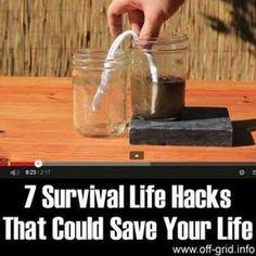 7 Survival Life Hacks That Could Save Your Life #Prepper #survivalkits