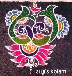 Simple Rangoli Designs Images, Rangoli Designs Diwali, Rangoli Designs With Dots, Easy Rangoli, Beautiful Rangoli Designs, Alpona Design, Indian Rangoli, Free Hand Rangoli, Wedding Mehndi Designs