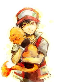 This is a very sweet drawing of a Pokemon trainer hugging a charmander. I really love the way this is styled and the coloring job is impressive. So sweet!
