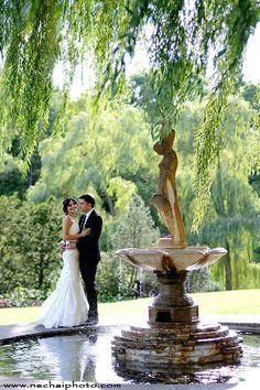 Wedding photo shoot in Edwards Gardens, Toronto