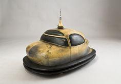 Model of futuristic automobile, circa 1935.