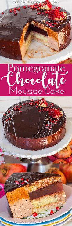 Pomegranate Chocolate Mousse Cake - Tatyanas Everyday Food