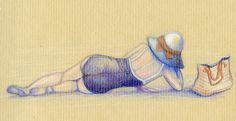 Lying On The Beach by cchersin on DeviantArt
