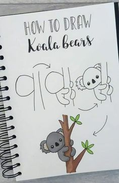 Doodle Zeichnungen dibujo paso a paso koala Doodle Art dibujo Doodle doodle art koala paso zeichnungen Cute Easy Drawings, Cool Art Drawings, Doodle Drawings, Cute Drawings Of Animals, Simple Doodles Drawings, Art Sketches, Bullet Journal Writing, Bullet Journal Ideas Pages, Bullet Journal Inspiration