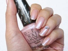 Polishes - OPI - Rosy Future: a extremely sheer pink with a strong light blue opalescent finish. Opi Nail Polish, Opi Nails, Mani Pedi, Manicure And Pedicure, Hair Routine, Neutral Nails, All Things Beauty, Essie, Future