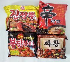 Korean Ramen Big4 Most Popular Instant Ramyun Noodles (1Pack_ 4Pcs) #NongshimOttogiSamyang