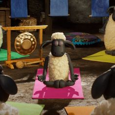 Trending GIF yoga relax calm sheep float namaste meditate aardman shaun the sheep mindful shaunthesheep shaunlemouton shaundasschaf shaunvitadepecora Netflix Time, Netflix Tv Shows, Netflix Movies, Gifs, Clay Animation, Love Calculator, Ice Cream Van, Shaun The Sheep, Sheep Farm