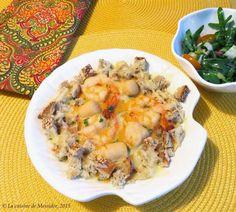 Crevettes et pétoncles, sauce Méditerranée