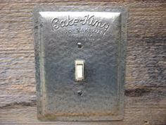 switch plates and outlet covers made from vintage tin and advertising tins that compliment any style each tin is handcut and formed into a unique switch