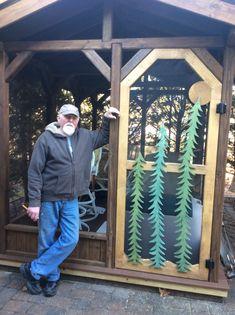 Screened Gazebo, Diy Woodworking, Woodworking, Screened Deck