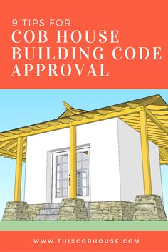 Here are 9 tips for getting cob house building code approval. There are no official cob house building codes that have been created, but these can help! Cob Building, Building Code, Building A House, Building Ideas, Green Building, Cob House Plans, Earthship Home, Earthship Plans, Earth Bag Homes