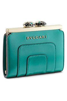 Bulgari - Bags and Accessories - 2014 Spring-Summer Bvlgari Handbags, Hermes Handbags, Purses And Handbags, Leather Handbags, Pantone Turquoise, Bulgari Bag, Design Bleu, Frame Bag, Shoes