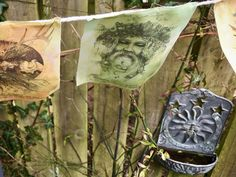 Pagan Wheel of the Year prayer flags http://www.nomeart.com/