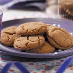 This is an awesome recipe for Ginger cookies! They are big and chewy and oh-so-yummy!!!! My grandma made this recipe a few weeks ago and we just can't get enough of it!