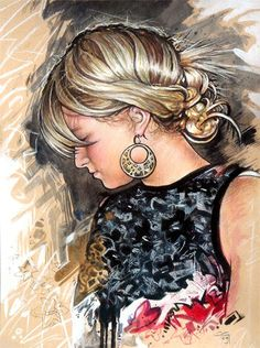 Golden Haired Girl by CGIllustration Simple Shapes, My Favorite Part, My Images, Love Her, Wonder Woman, Deviantart, Superhero, Portrait, Artwork
