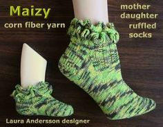 Mother-Daughter socks  Ravelry: Maizy Ruffled Socks pattern by Laura Andersson