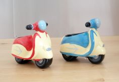 Scooter egg cups.