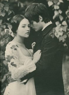 """Pinner says """"Wow...WOW, I'm in love with this.. My hopeless romantic heart is beating fast!"""" I say ~ The lovely Olivia Hussey, from Franco Zefferelli's Romeo and Juliet, but is that her co-star, Leonard Whiting?"""