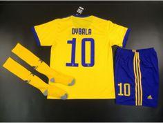 6d9216430  JOE  Adult Juventus FC Away  10 DYBALA Yellow Fans Version Full Kits 2017  18
