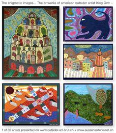 Eine Zusammenstellung der auf der Webseite gezeigten Arbeiten des Amerikaners King Orth Outsider Art, Vision Art, Bad Art, Gallery Website, Art Brut, Naive Art, Art Forms, Unique Art, Folk Art