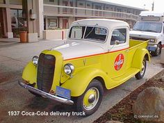1937 Coca-Cola delivery truck in Sacramento, California  Dad restored one for me when I turned 16!!  Fire engine red with black and white interior!!