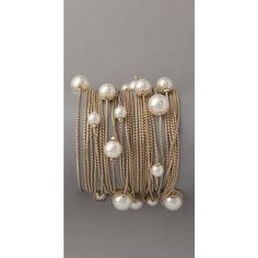Runway Multi Strand Pearl Bracelet  ohh I love this there is just something about pearls.