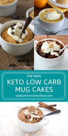 Looking for easy keto? Look no further than this amazing collection of keto mug cakes. Satisfy that sweet tooth in mere minutes. All low carb, sugar-free, and grain-free. And all of them delicious! Low Carb Sweets, Low Carb Desserts, Low Carb Recipes, Cooking Recipes, Quick Keto Dessert, Healthy Dessert Recipes, Breakfast Recipes, Paleo Dessert, Low Carb Mug Cakes