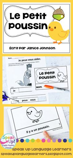 Le Petit Poussin French Chicken Little / Henny Penny Reader ~ Simplified for Language Learners World Language Classroom, Henny Penny, Classroom Board, French Classroom, French Teacher, Emergent Readers, Dual Language, How To Speak French, English