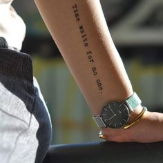 Custom Temporary Tattoo - Time waits for no one.