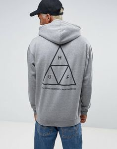 Buy HUF triple triangle hoodie at ASOS. With free delivery and return options (Ts&Cs apply), online shopping has never been so easy. Get the latest trends with ASOS now. Mens Sweatshirts, Hoodies, New York Street, Huf, Grey Hoodie, Best Brand, Street Wear, Asos, Graphic Sweatshirt