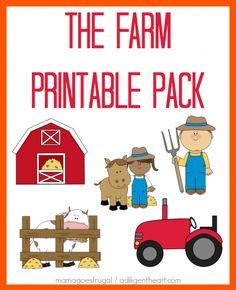 Farm lessons - FREE The Farm Printable Pack – Farm lessons Farm Animals Preschool, Free Preschool, Preschool Crafts, Preschool Farm Theme, Farm Lessons, Farm Unit, Farm Activities, Farm Party, Barnyard Party