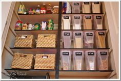 I'd really like to start buying some storage containers to work towards a pantry that looks way more organized.