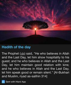 Hadith of the day Prophet Muhammad Quotes, Hadith Quotes, Muslim Quotes, Religious Quotes, Quran Quotes, Islam Hadith, Islam Quran, Alhamdulillah, Beautiful Islamic Quotes