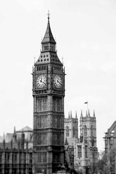 Big Ben Print London Photography London Print Black and Black And White Picture Wall, Black And White City, Black And White Posters, Black And White Landscape, Black And White Aesthetic, Black And White Wallpaper, Black And White Pictures, Scenic Photography, London Photography