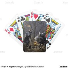 1863 CW Night Burial [color] Bicycle Playing Cards