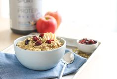 Mix up a batch of this Cranberry Apple Oatmeal at home to start your day on a fruity note.
