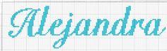 nombre de punto de cruz Alejandra - Buscar con Google
