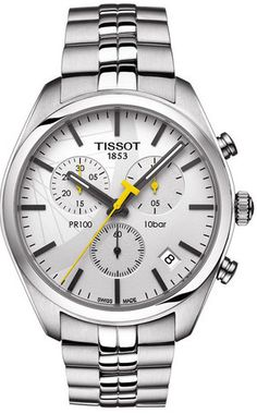 Tissot Watch PR 100 Tour De France 2016 Watch available to buy online from with free UK delivery. Fine Watches, Sport Watches, Cool Watches, Rolex Watches, Breitling, Cartier, Affordable Watches, Automatic Watches For Men, Luxury Watches For Men