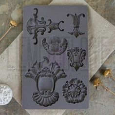 Iron Orchid Designs by Prima silicone molds for beautifully dimensional vintage style baroque goodies to embellish your décor and craft projects, AND they play
