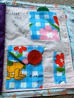 Imaginative Mom: Homemade baby toys - sewn fabric learning book