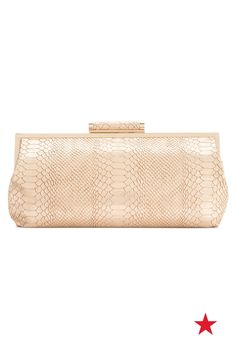 What's fiercer than a snakeskin stunner? A snakeskin stunner in gold! This INC International Concepts faux-leather clutch takes statement accessories to a whole new level.
