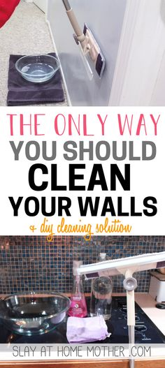 Learn how to clean your walls without removing or discoloring the paint, and make your own EASy DIY wall cleaning solution. Grünanlage renovieren We. Cleaning Painted Walls, Cleaning Walls, Deep Cleaning Tips, Toilet Cleaning, House Cleaning Tips, Diy Cleaning Products, Cleaning Solutions, Spring Cleaning, Couch Cleaning