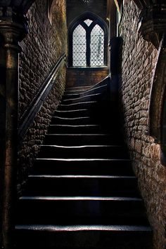 Medieval Staircase ~ Brown's Hospital, Stamford ~ Browne's Hospital is a… Chateau Medieval, Medieval Castle, Gothic Castle, Urbane Kunst, Slytherin Aesthetic, Stairway To Heaven, Abandoned Places, Abandoned Library, Stairways
