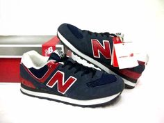 #NB #NewBalance 574 Navy/Red