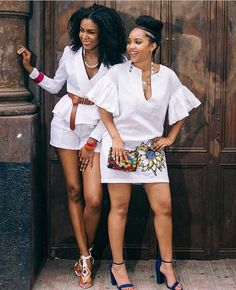 kitenge designs U can slay on white too, with this design u are good to go African Maxi Dresses, African Dresses For Women, African Attire, African Wear, African Lace, Lace Dresses, Short Dresses, African Inspired Fashion, African Print Fashion