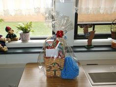 My high school students and I made gift baskets for 10 nursing home residents. It was a very rewarding experience for everyone! I was very proud of my kids!