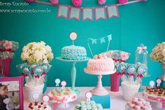 Festa azul Tiffany e rosa   Macetes de Mãe Party, Alice, Birthday Party Ideas, Ideas Party, Blue Nails, Decorations, Parties